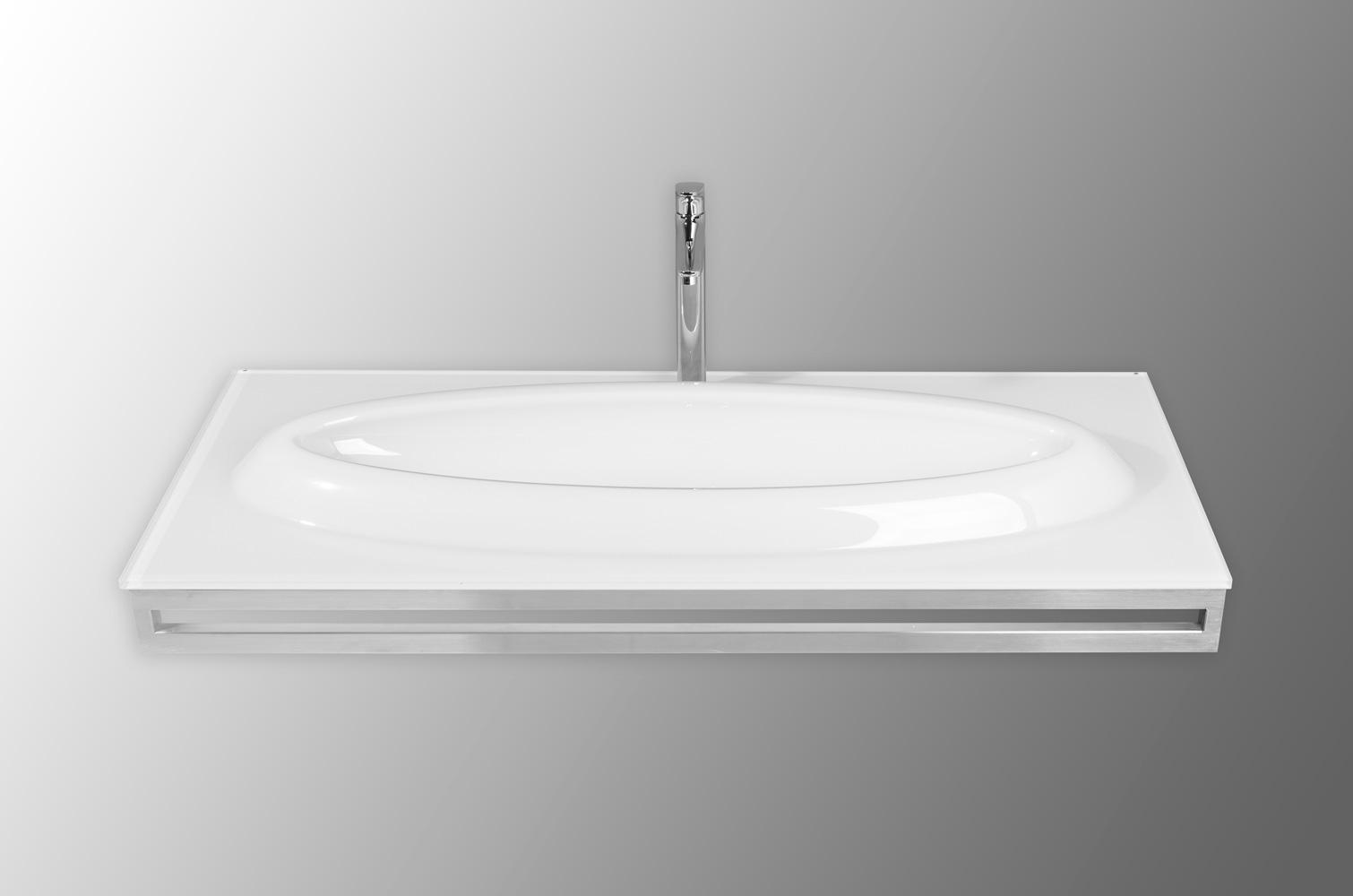 Special glastvättställ på stålställning 120cm