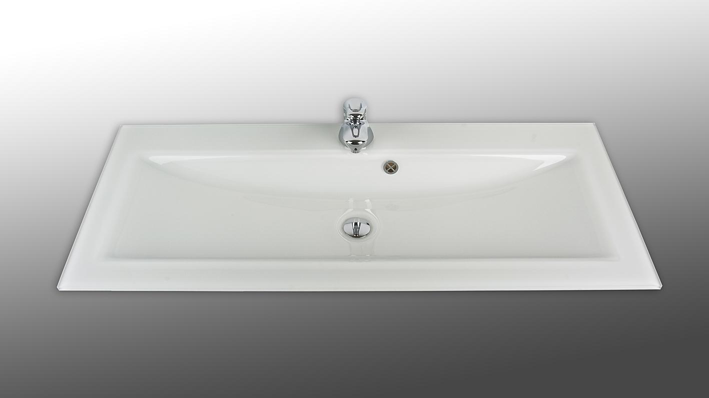 Xeno 120cm tvättställ i glas