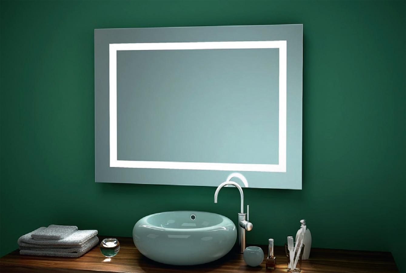 Quadro LED-spegel